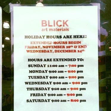 blick hours