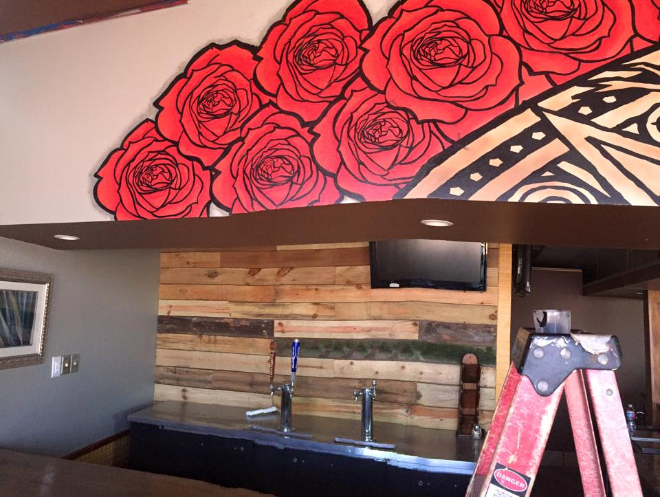 The mural at la casa taqueria s new location is done for Thank you mural