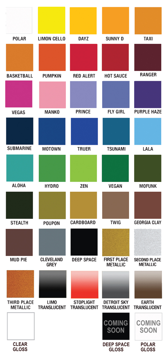 Plutonium Paint Colors